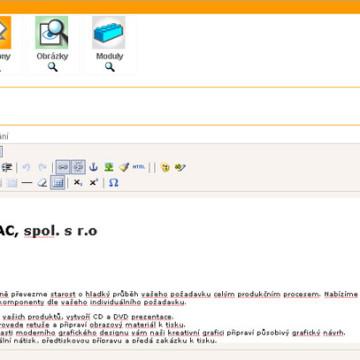 Sdružení MAC - webové prezentace 09