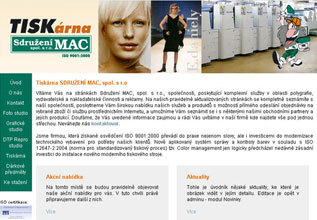 Sdružení MAC - webové prezentace