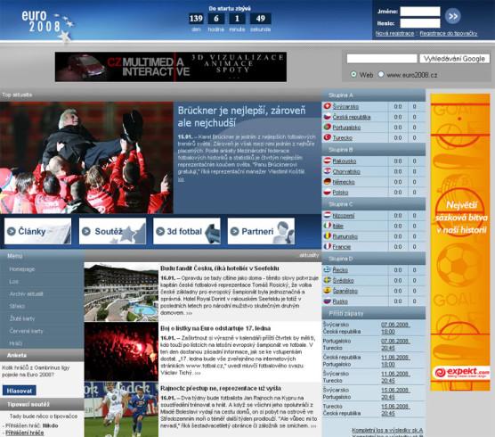 Web EURO 2008.cz - mistrovství ve fotbale