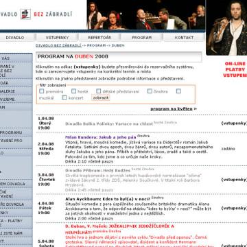 Divadlo Bez zábradlí redesign a videogalerie 2