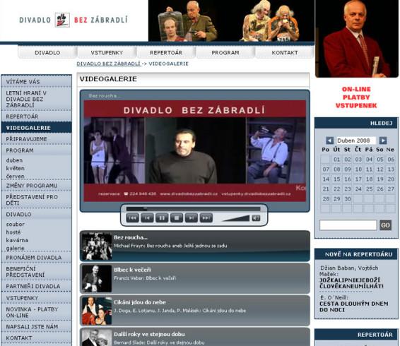 Divadlo Bez zábradlí redesign a videogalerie 4