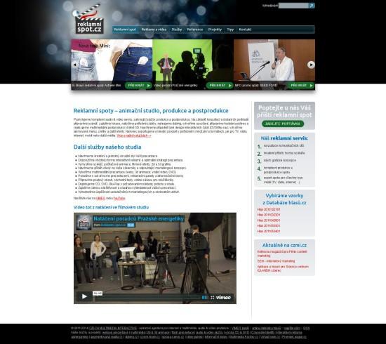 Reklamní spot - Audio video produkce - CZECH MULTIMEDIA INTERACTIVE