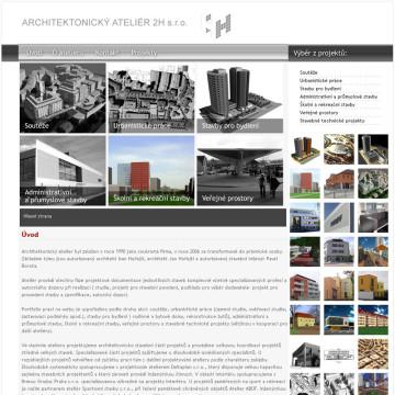 Architektonický Ateliér 2H webová prezentace 4