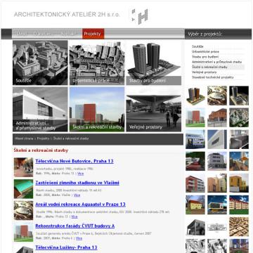 Architektonický Ateliér 2H webová prezentace 7