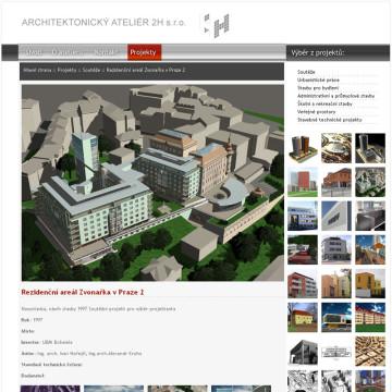 Architektonický Ateliér 2H webová prezentace 8