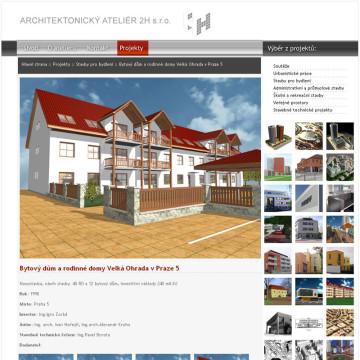 Architektonický Ateliér 2H webová prezentace 5