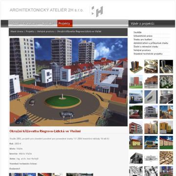 Architektonický Ateliér 2H webová prezentace 9