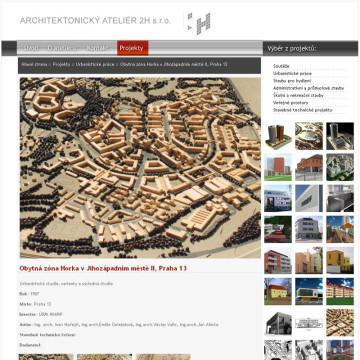 Architektonický Ateliér 2H webová prezentace 3