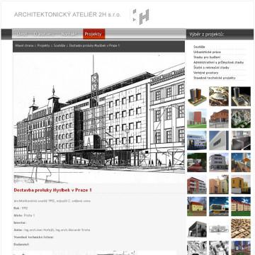 Architektonický Ateliér 2H webová prezentace 6