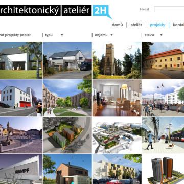 Architektonický Ateliér 2H webová prezentace 2