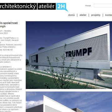Architektonický Ateliér 2H webová prezentace 1