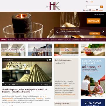 Hotel Kašperk - webová prezentace 2013