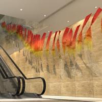 3D vizualizace skleněných plastik Preciosa