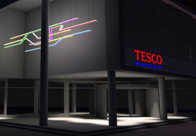 Forum LIBEREC 3d vizualizace svítidel Tesco 1