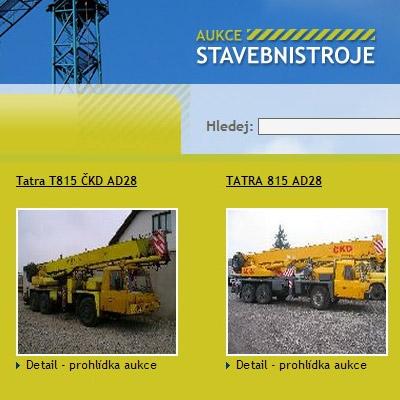 Aukce stavební stroje - aukční portál