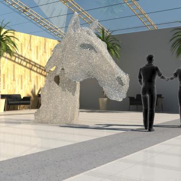 Dubai Racing Club 3d vizualizace kůň 1