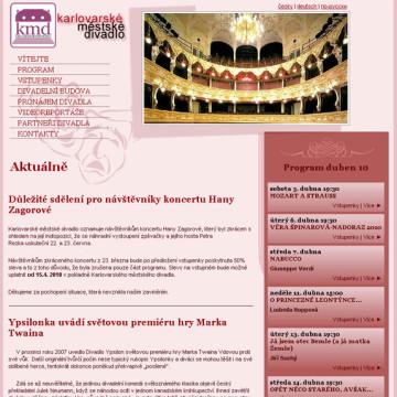 Městské divadlo Karlovy Vary - webová prezentace 3