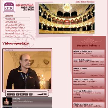 Městské divadlo Karlovy Vary - webová prezentace 4
