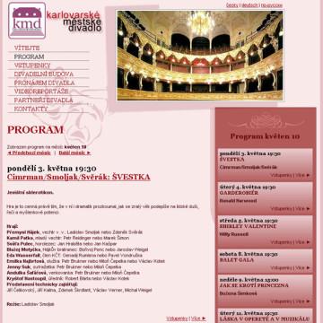 Městské divadlo Karlovy Vary - webová prezentace 5