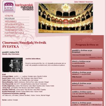 Městské divadlo Karlovy Vary - webová prezentace 6