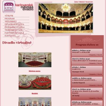 Městské divadlo Karlovy Vary - webová prezentace 7