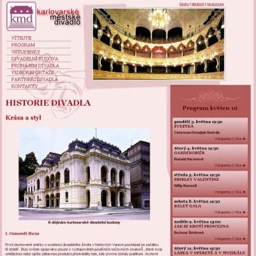 Městské divadlo Karlovy Vary - webová prezentace 8