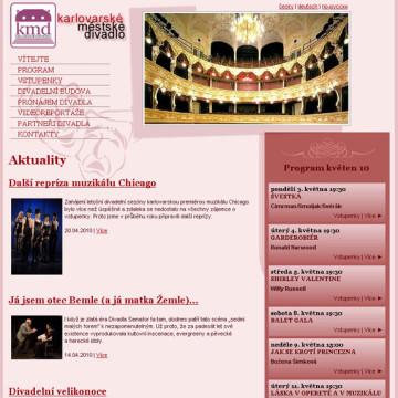 Městské divadlo Karlovy Vary - webová prezentace 9