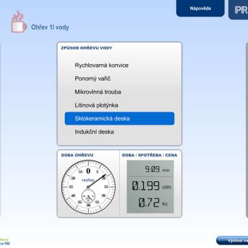 Výpočtové flashové aplikace pro Centrum energetické poradenství PRE 16