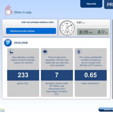 Výpočtové flashové aplikace pro Centrum energetické poradenství PRE 8
