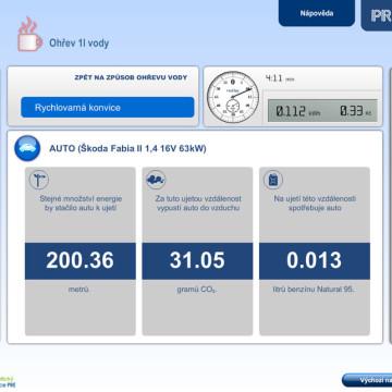 Výpočtové flashové aplikace pro Centrum energetické poradenství PRE 11