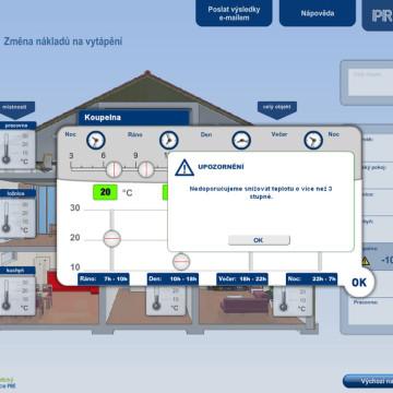Výpočtové flashové aplikace pro Centrum energetické poradenství PRE 10