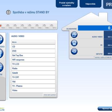 Výpočtové flashové aplikace pro Centrum energetické poradenství PRE 15