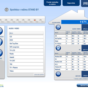 Výpočtové flashové aplikace pro Centrum energetické poradenství PRE 5