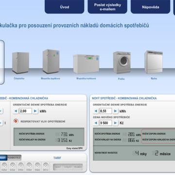 Výpočtové flashové aplikace pro Centrum energetické poradenství PRE 1