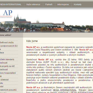 NEXIA AP webová prezentace 1