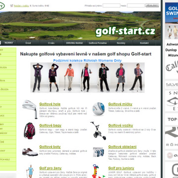 Golfstart redesign a rozšíření eshopu