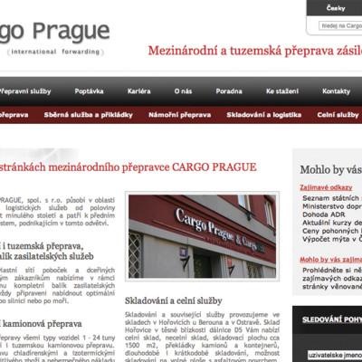 Nové webové prezentace přepravců CARGO 1