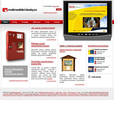 Multimediální kiosky.cz - nová microsite