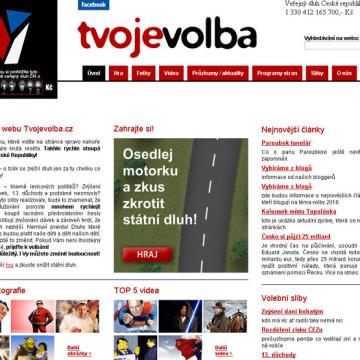 Flash hra o státní dluh na tvojevolba.cz 2