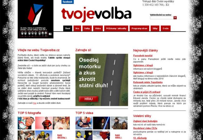 Tvojevolba.cz webová prezentace 1