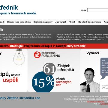 Microsite Zlatý středník.cz