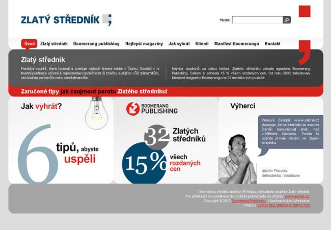 Microsite Zlatý středník.cz 1