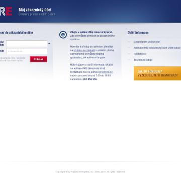 Grafická koncepce uživatelských účtů PRE v2 HP