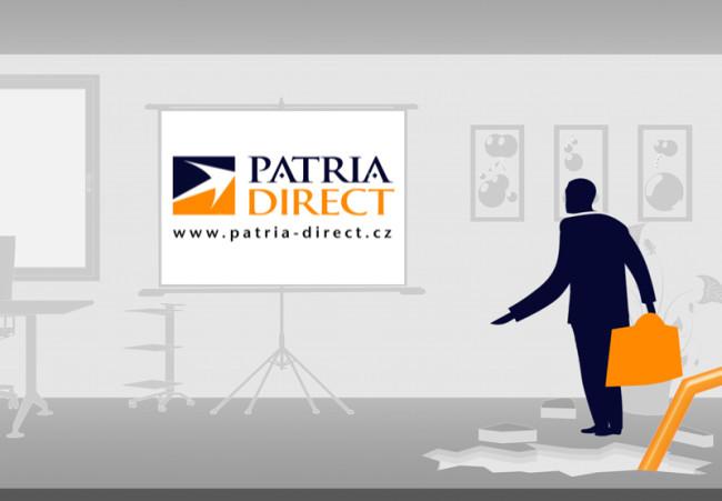 Patria Direct TV reklamní spot Obchodujte s námi na burze 1