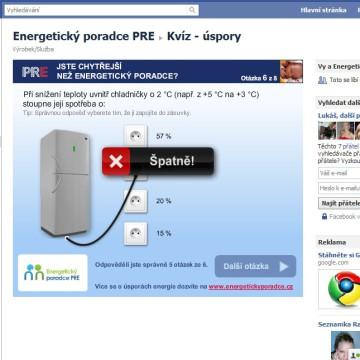 Facebook kvíz Jsi chytřejší než energetický poradce