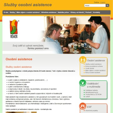 Mikro web pecovatel_cz_sluzby_osobni-asistence