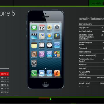Prodejní aplikace Vodafone - katalog telefonů