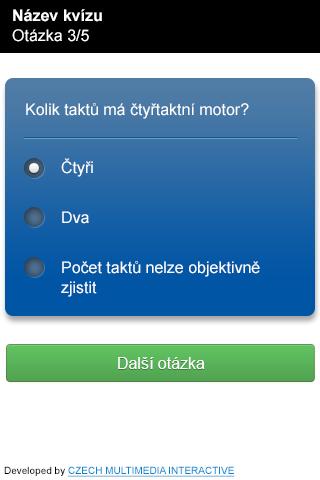 Mobilní kvíz a losovací aplikace MPO - mobilní kvíz