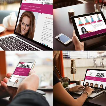 Nová responzivní webová prezentace Miss Face