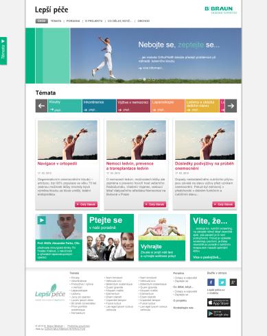 Webová prezentace Lepší péče homepage